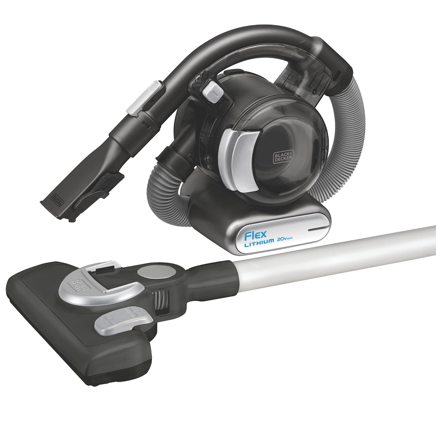 BLACK+DECKER MAX Lithium Flex Vacuum with Stick Vacuum Floor Head and Pet Hair Brush