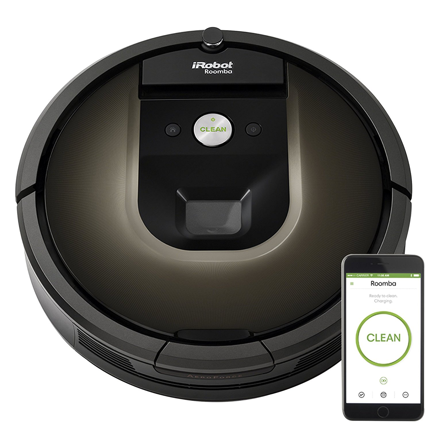 iRobot Roomba 980 Wi-Fi Connected Robotic Vacuum Cleaner