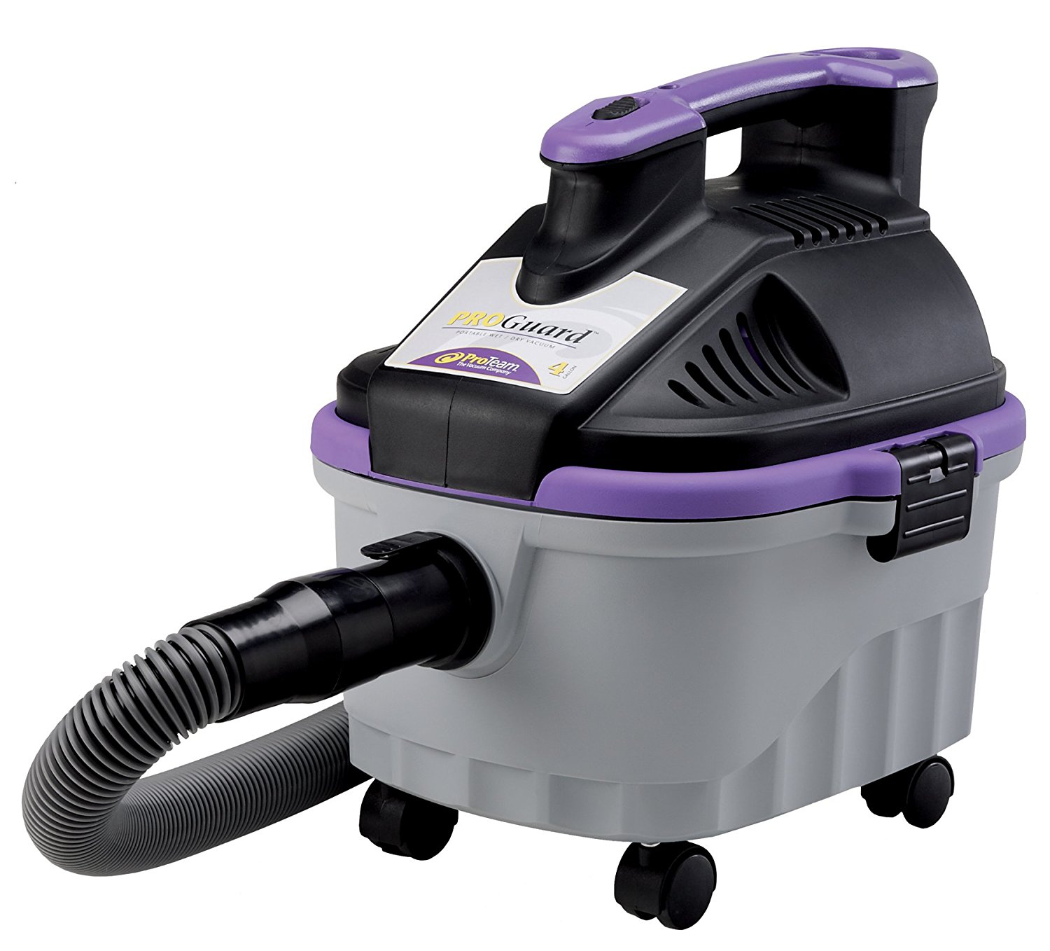 ProTeam Wet Dry Vacuums, ProGuard 4 Portable, 4-Gallon Wet Dry Vacuum Cleaner