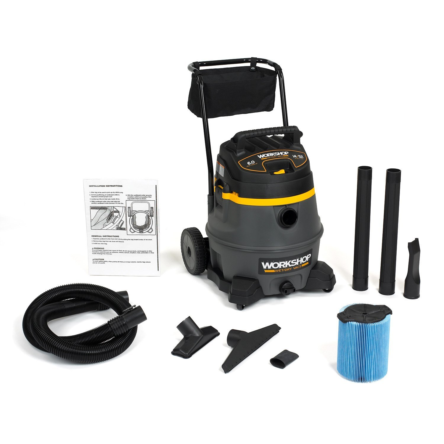 WORKSHOP Wet Dry Vac WS1400CA High Power Wet Dry Vacuum Cleaner
