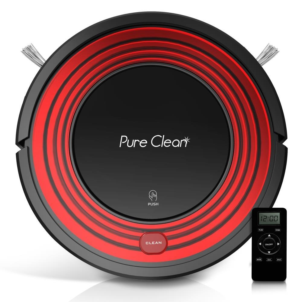PureClean PUCRC95 Robot Vacuum Cleaner with Programmable Self Activation