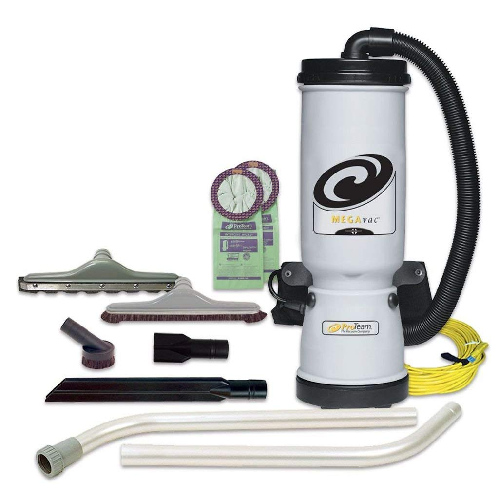 ProTeam 107467 Commercial Backpack Vacuum Cleaner-ProVac FS 6
