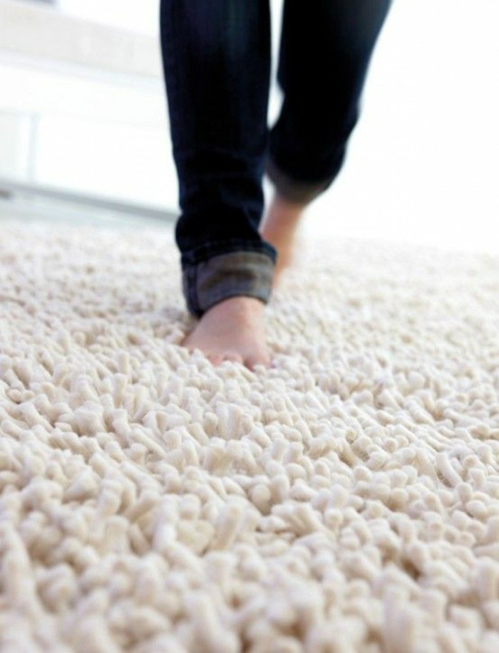 Soft wool carpet nice to walk on