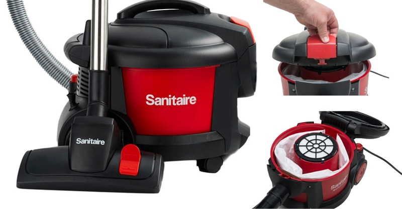 Sanitaire SC3700A Quiet Clean Canister Vacuum mixed
