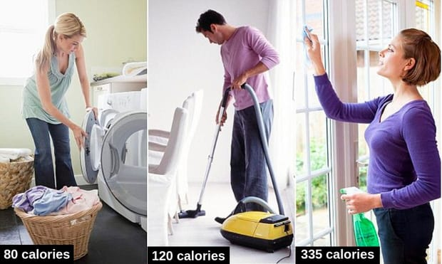 vacuum burn off calories